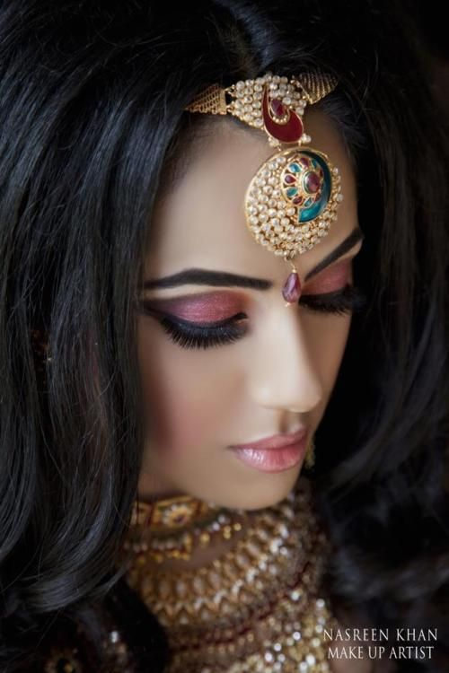 Step by Step Arabic Party Wear & Bridal Eye & Complete Face Makeup Tutorial with Pictures (11)