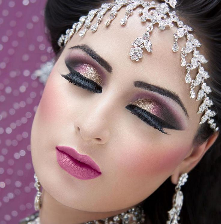 Step by Step Arabic Party Wear & Bridal Eye & Complete Face Makeup Tutorial with Pictures (13)
