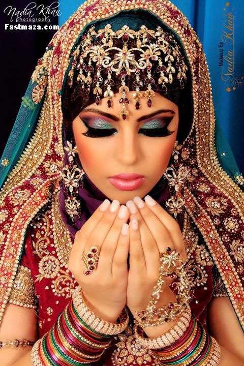 Step by Step Arabic Party Wear & Bridal Eye & Complete Face Makeup Tutorial with Pictures (14)