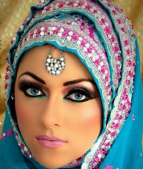 Arabic Hairstyles For Weddings: Arabic Bridal Party Wear Makeup Tutorial Step By Step Tips
