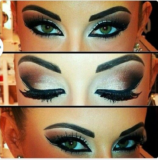 Step by Step Arabic Party Wear & Bridal Eye & Complete Face Makeup Tutorial with Pictures (21)