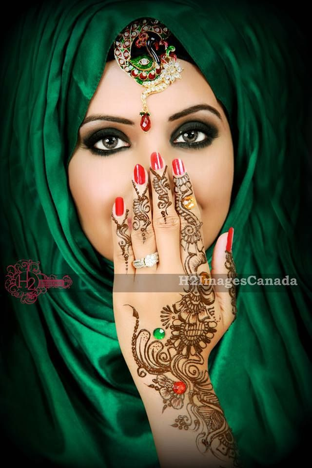 Step by Step Arabic Party Wear & Bridal Eye & Complete Face Makeup Tutorial with Pictures (22)