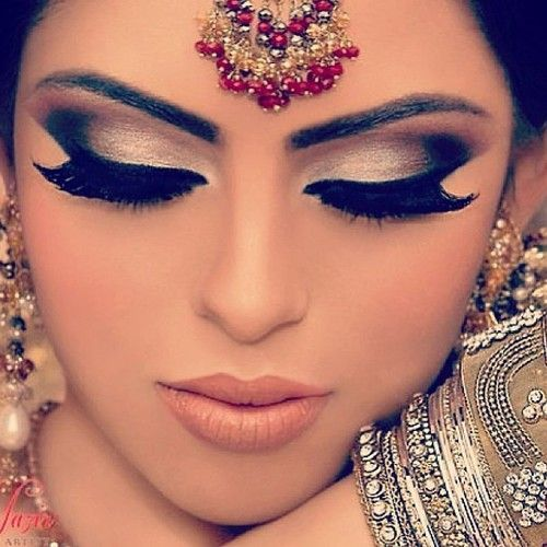 Indian Bridal Eye Makeup: Arabic Bridal Party Wear Makeup Tutorial Step By Step Tips