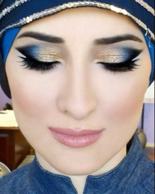Step by Step Arabic Party Wear & Bridal Eye & Complete Face Makeup Tutorial with Pictures (4)