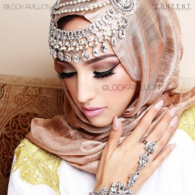 Step by Step Arabic Party Wear & Bridal Eye & Complete Face Makeup Tutorial with Pictures (6)