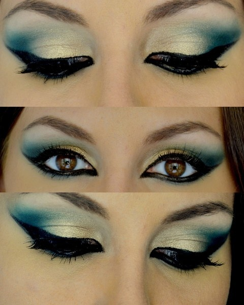 Step by Step Arabic Party Wear & Bridal Eye & Complete Face Makeup Tutorial with Pictures (8)