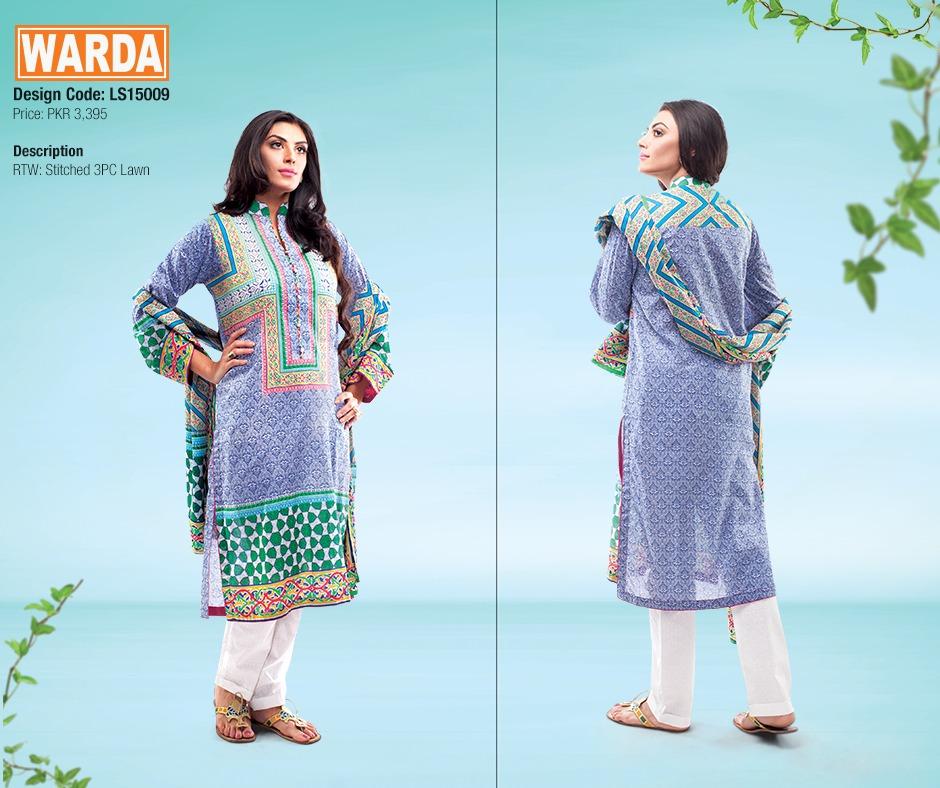 WARDA Spring Summer Feb Collection Latest Women Dresses 2015 (1)