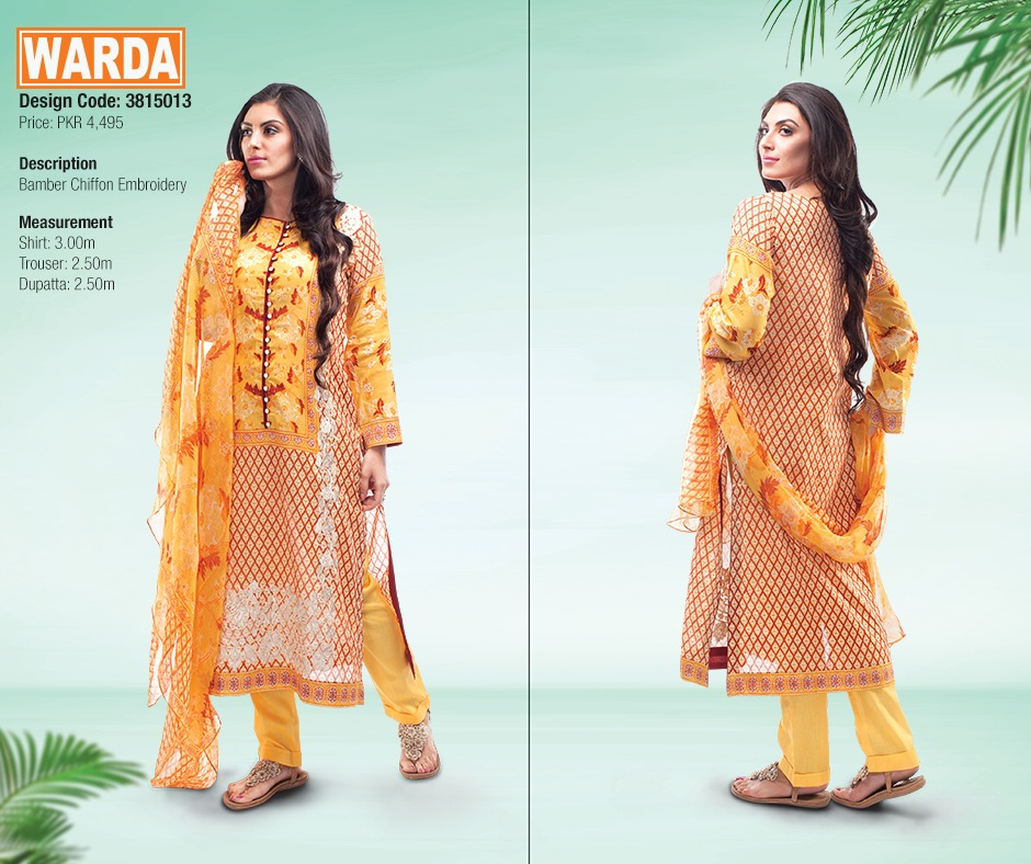 WARDA Spring Summer Feb Collection Latest Women Dresses 2015 (10)
