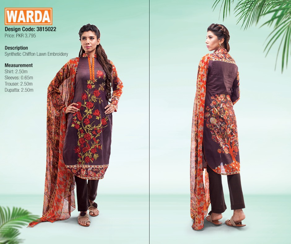 WARDA Spring Summer Feb Collection Latest Women Dresses 2015 (11)