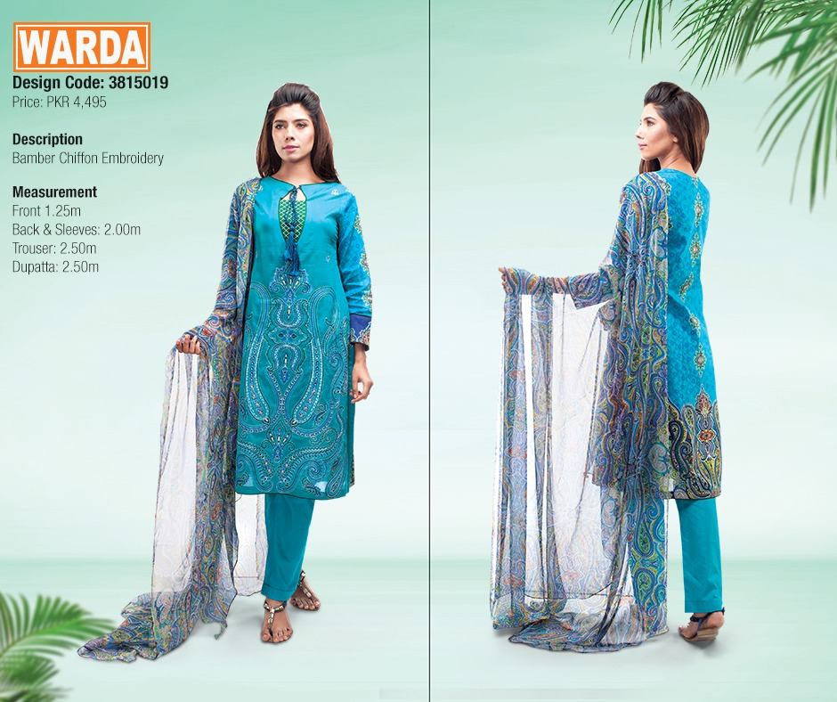 WARDA Spring Summer Feb Collection Latest Women Dresses 2015 (12)