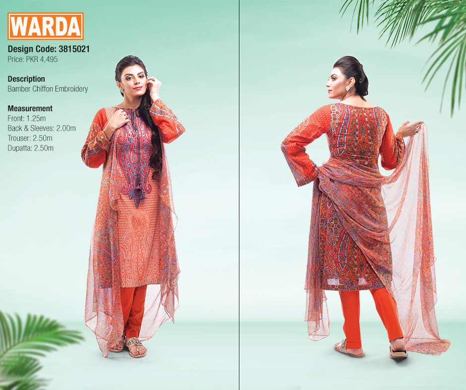 WARDA Spring Summer Feb Collection Latest Women Dresses 2015 (13)
