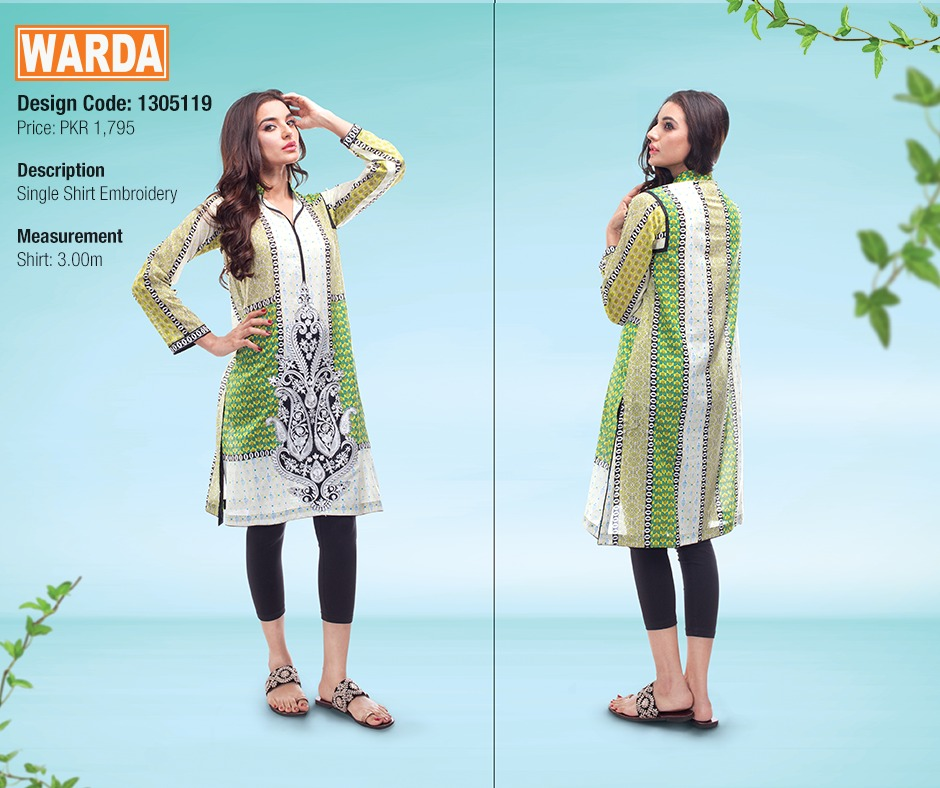 WARDA Spring Summer Feb Collection Latest Women Dresses 2015 (14)