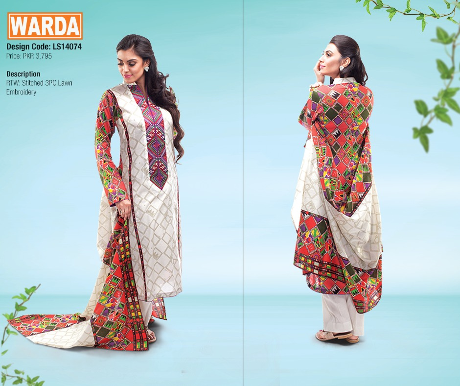 WARDA Spring Summer Feb Collection Latest Women Dresses 2015 (15)
