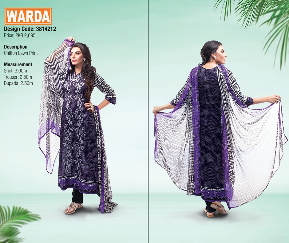WARDA Spring Summer Feb Collection Latest Women Dresses 2015 (17)