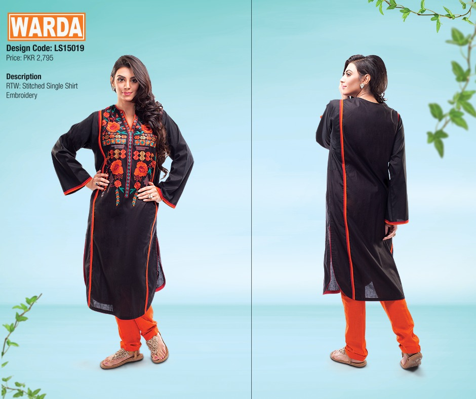 WARDA Spring Summer Feb Collection Latest Women Dresses 2015 (2)