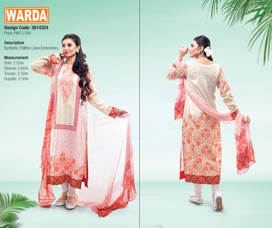 WARDA Spring Summer Feb Collection Latest Women Dresses 2015 (20)