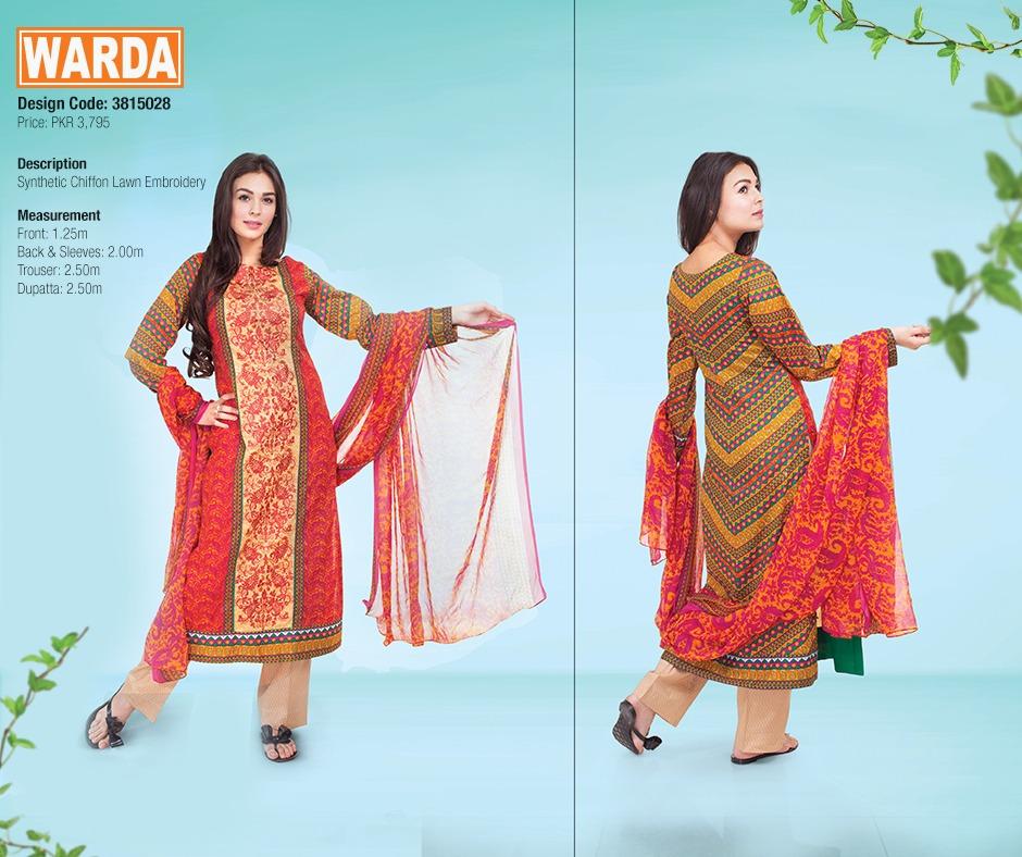 WARDA Spring Summer Feb Collection Latest Women Dresses 2015 (21)