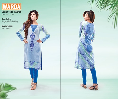 WARDA Spring Summer Feb Collection Latest Women Dresses 2015 (24)