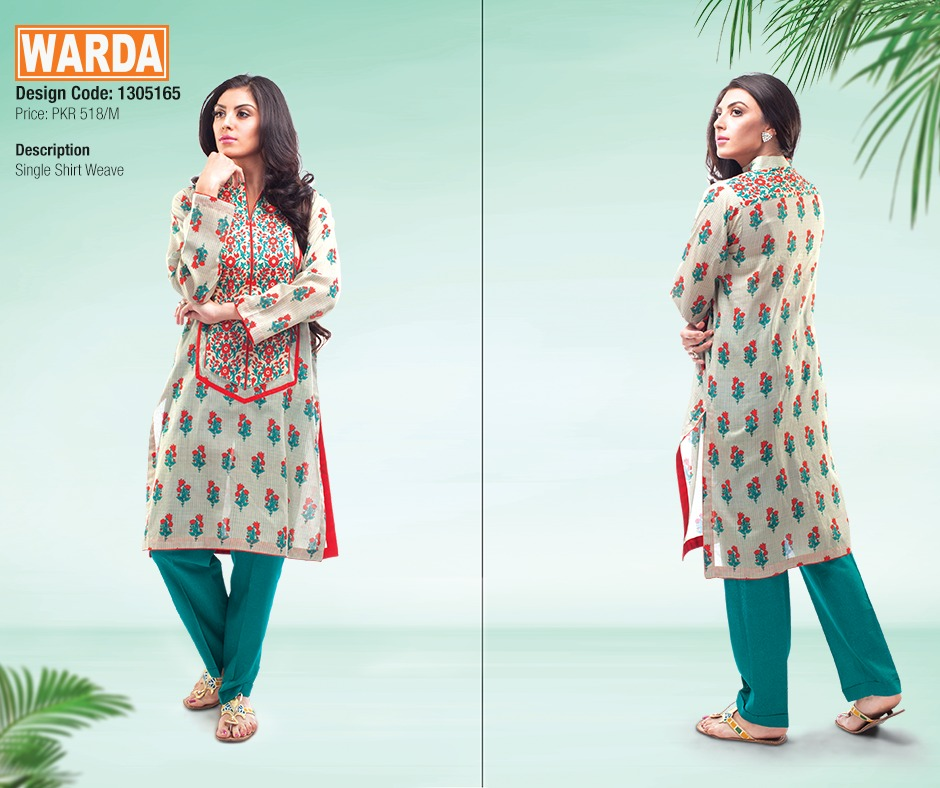 WARDA Spring Summer Feb Collection Latest Women Dresses 2015 (4)