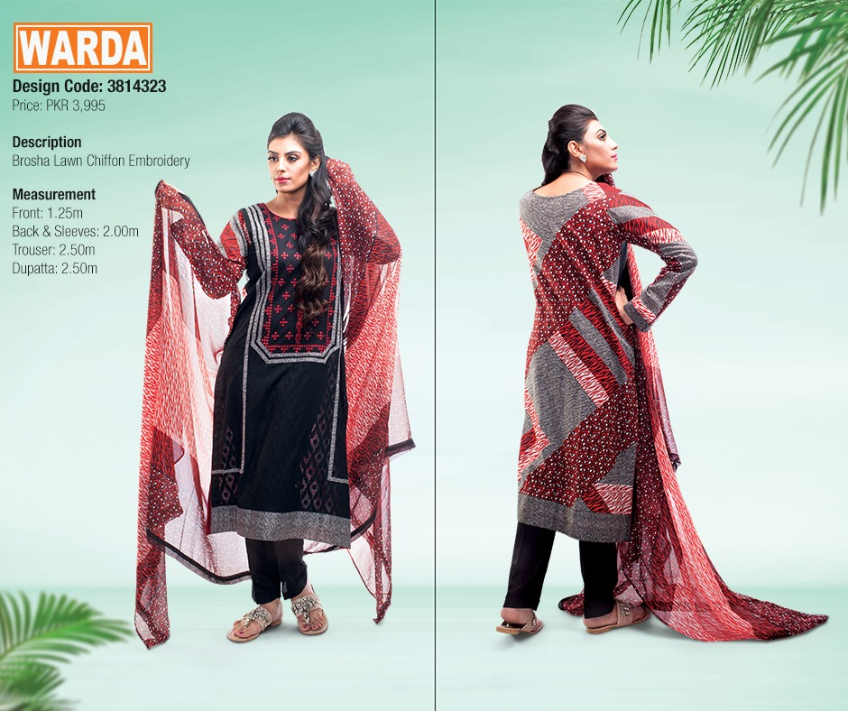 WARDA Spring Summer Feb Collection Latest Women Dresses 2015 (6)