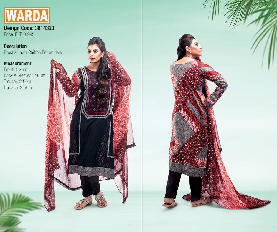 WARDA Spring Summer Feb Collection Latest Women Dresses 2015 (6)