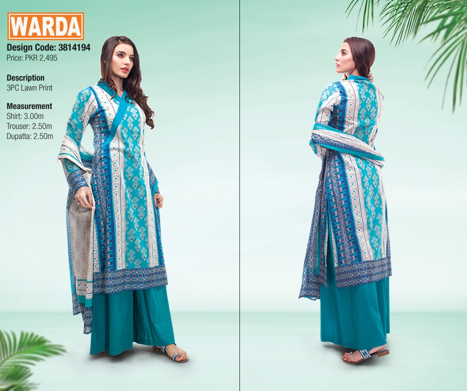 WARDA Spring Summer Feb Collection Latest Women Dresses 2015 (9)