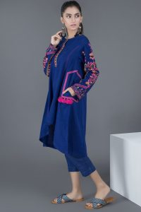 royal blue casual winter shirt