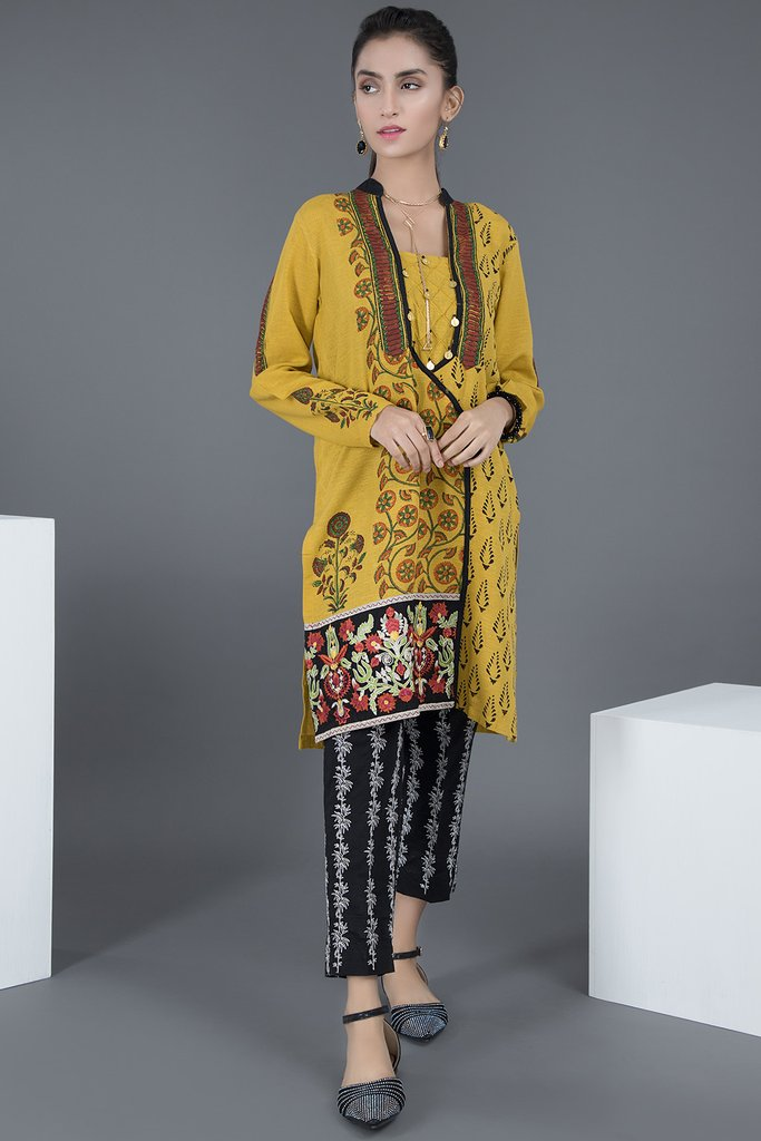 Angrakha Warda Pakistani Designer Winter Shirts & Kurtis Collection