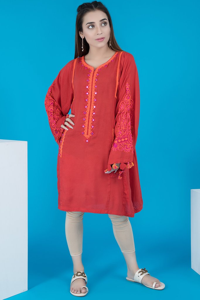 medium length pakistani winter shirts