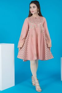 peplum Warda Pakistani Designer Winter Shirts & Kurtis Collection