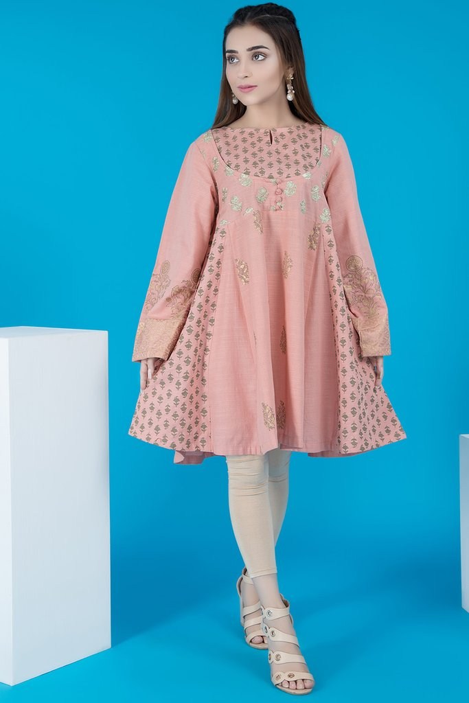 peplum Warda Pakistani Designer Winter Shirts & Kurtis Collection