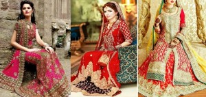 Latest Asian Fashion Barat Dresses Designs Collection for Wedding Brides