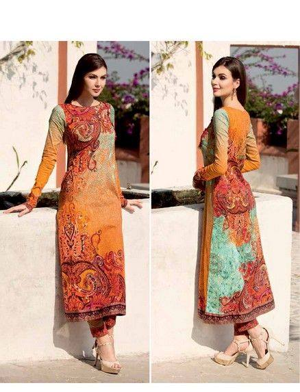 Five Star Textile Mills Latest Summer Collection Digital Printed Lawn Embroidered Dresses 2015 (1)