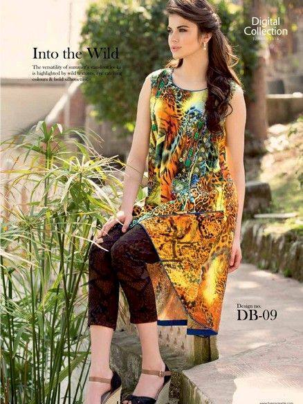 Five Star Textile Mills Latest Summer Collection Digital Printed Lawn Embroidered Dresses 2015  (10)