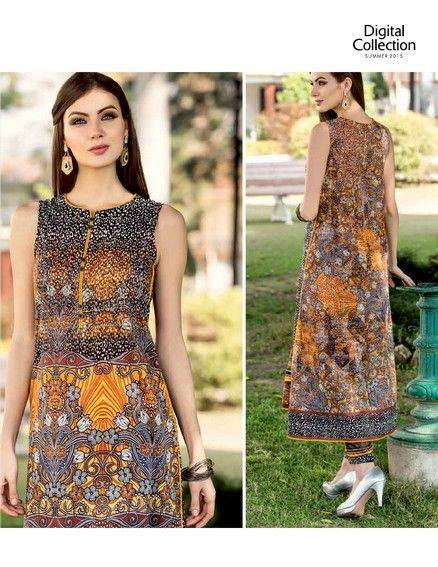 Five Star Textile Mills Latest Summer Collection Digital Printed Lawn Embroidered Dresses 2015 (11)
