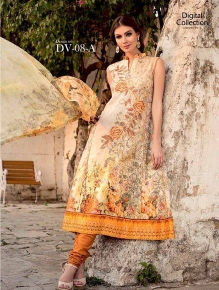 Five Star Textile Mills Latest Summer Collection Digital Printed Lawn Embroidered Dresses 2015  (12)