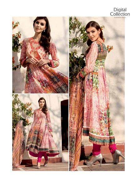 Five Star Textile Mills Latest Summer Collection Digital Printed Lawn Embroidered Dresses 2015 (13)