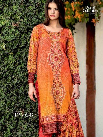 Five Star Textile Mills Latest Summer Collection Digital Printed Lawn Embroidered Dresses 2015  (14)