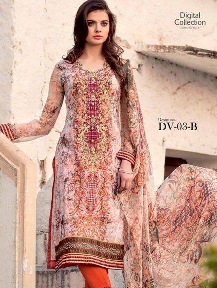 Five Star Textile Mills Latest Summer Collection Digital Printed Lawn Embroidered Dresses 2015  (18)