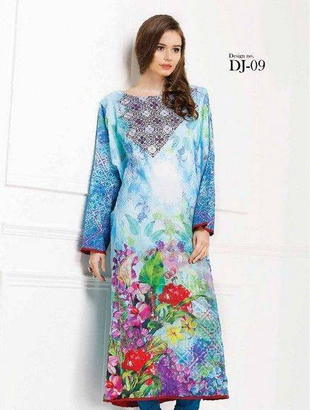Five Star Textile Mills Latest Summer Collection Digital Printed Lawn Embroidered Dresses 2015  (19)