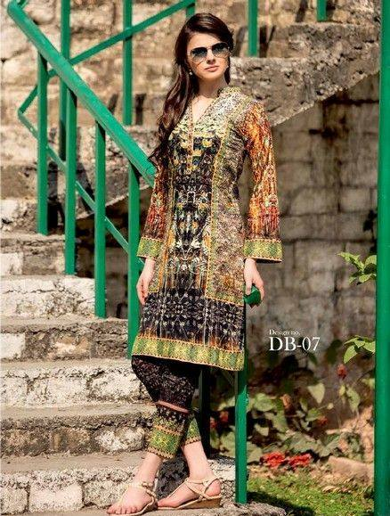 Five Star Textile Mills Latest Summer Collection Digital Printed Lawn Embroidered Dresses 2015 (2)