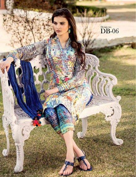 Five Star Textile Mills Latest Summer Collection Digital Printed Lawn Embroidered Dresses 2015  (20)