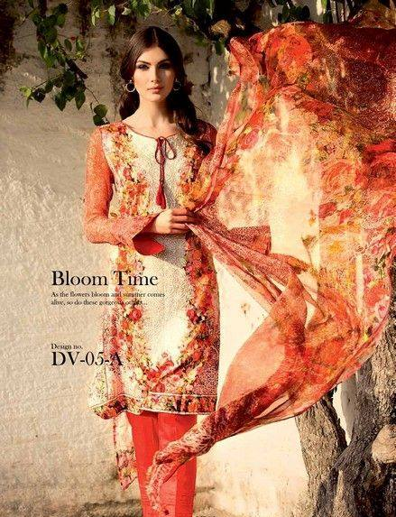 Five Star Textile Mills Latest Summer Collection Digital Printed Lawn Embroidered Dresses 2015 (21)