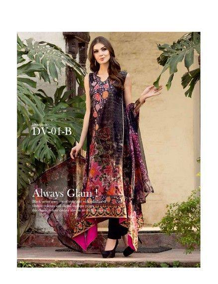 Five Star Textile Mills Latest Summer Collection Digital Printed Lawn Embroidered Dresses 2015  (22)