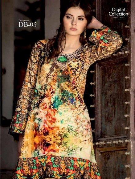 Five Star Textile Mills Latest Summer Collection Digital Printed Lawn Embroidered Dresses 2015  (23)