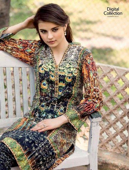 Five Star Textile Mills Latest Summer Collection Digital Printed Lawn Embroidered Dresses 2015  (24)