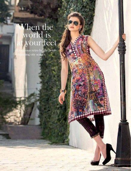 Five Star Textile Mills Latest Summer Collection Digital Printed Lawn Embroidered Dresses 2015  (27)