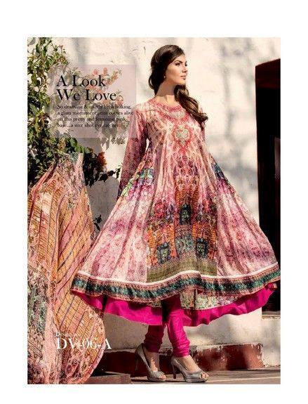 Five Star Textile Mills Latest Summer Collection Digital Printed Lawn Embroidered Dresses 2015  (28)