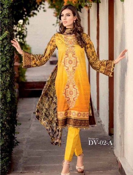 Five Star Textile Mills Latest Summer Collection Digital Printed Lawn Embroidered Dresses 2015 (29)