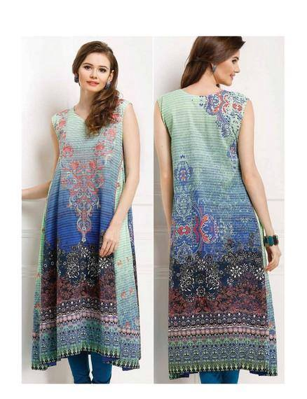 Five Star Textile Mills Latest Summer Collection Digital Printed Lawn Embroidered Dresses 2015  (3)